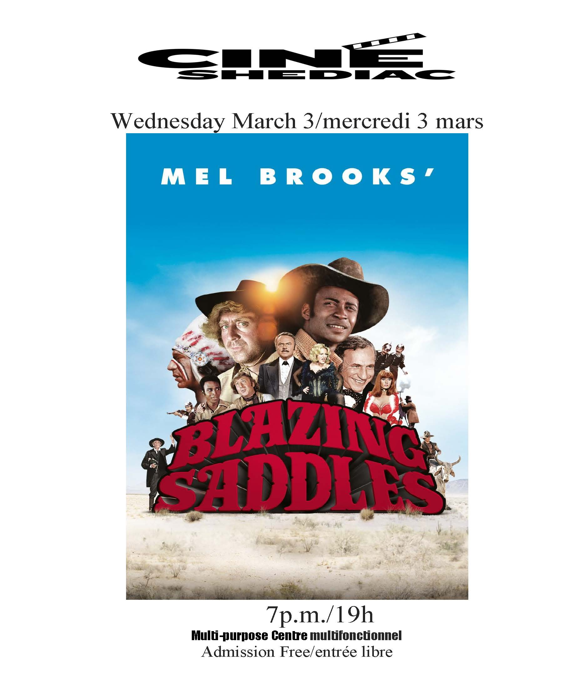 Blazing Saddles 3 mars 2021