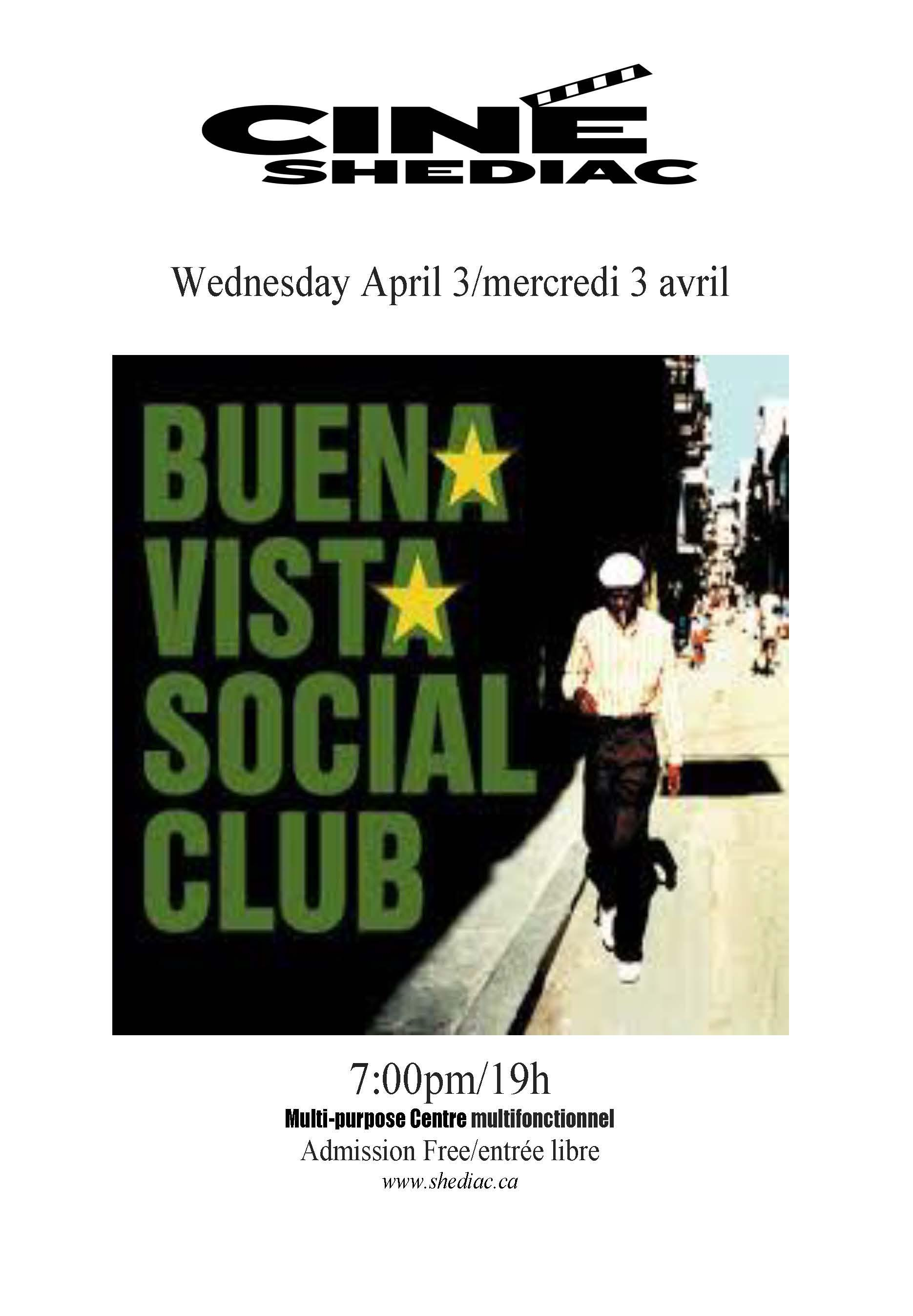 Buena Vista Social Club 3 avril