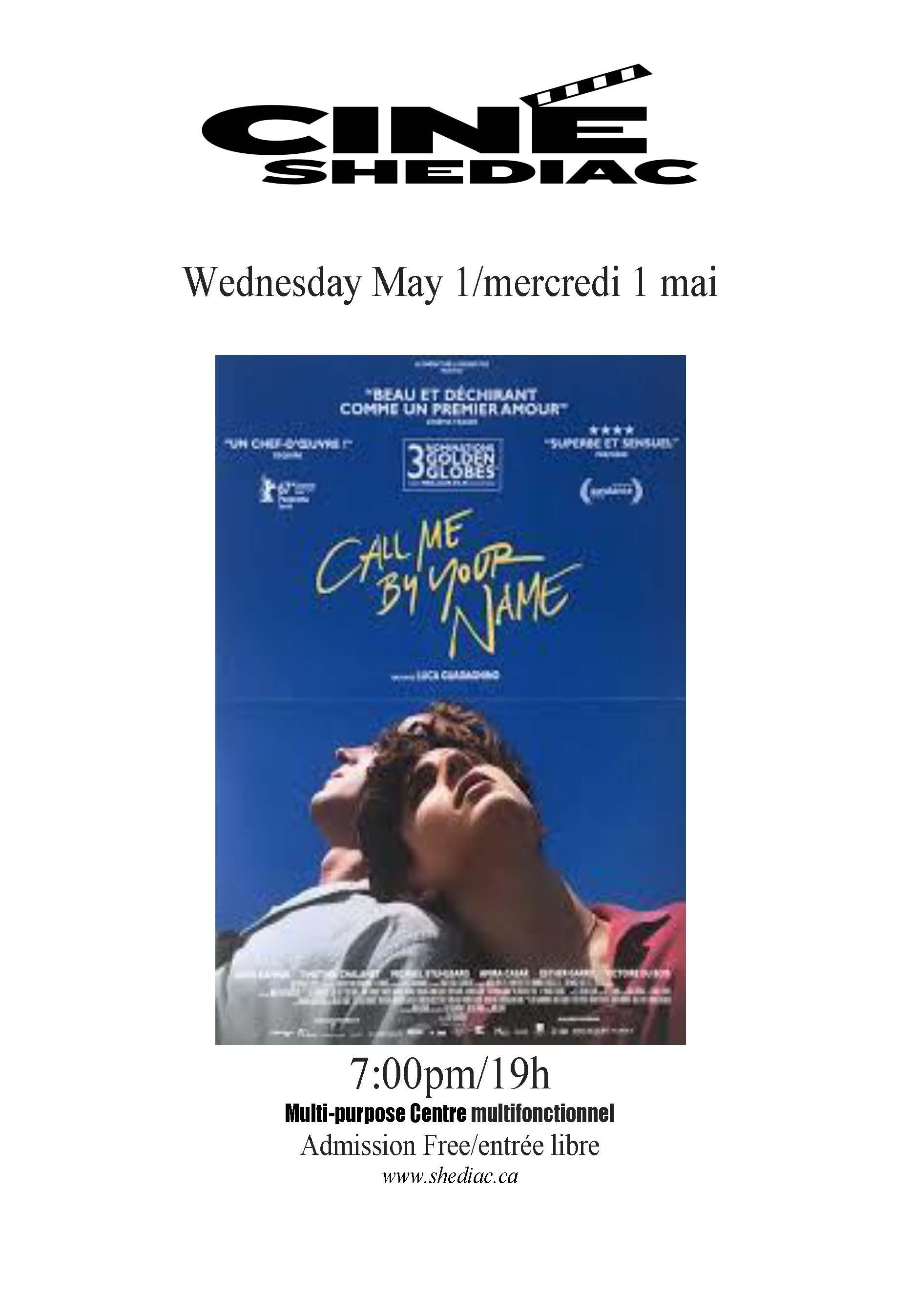Call me by your name 1 mai