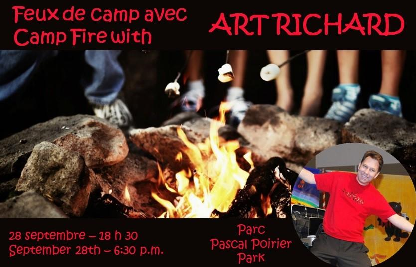 Feux de camp avec Art Richard 28 septembre 2018