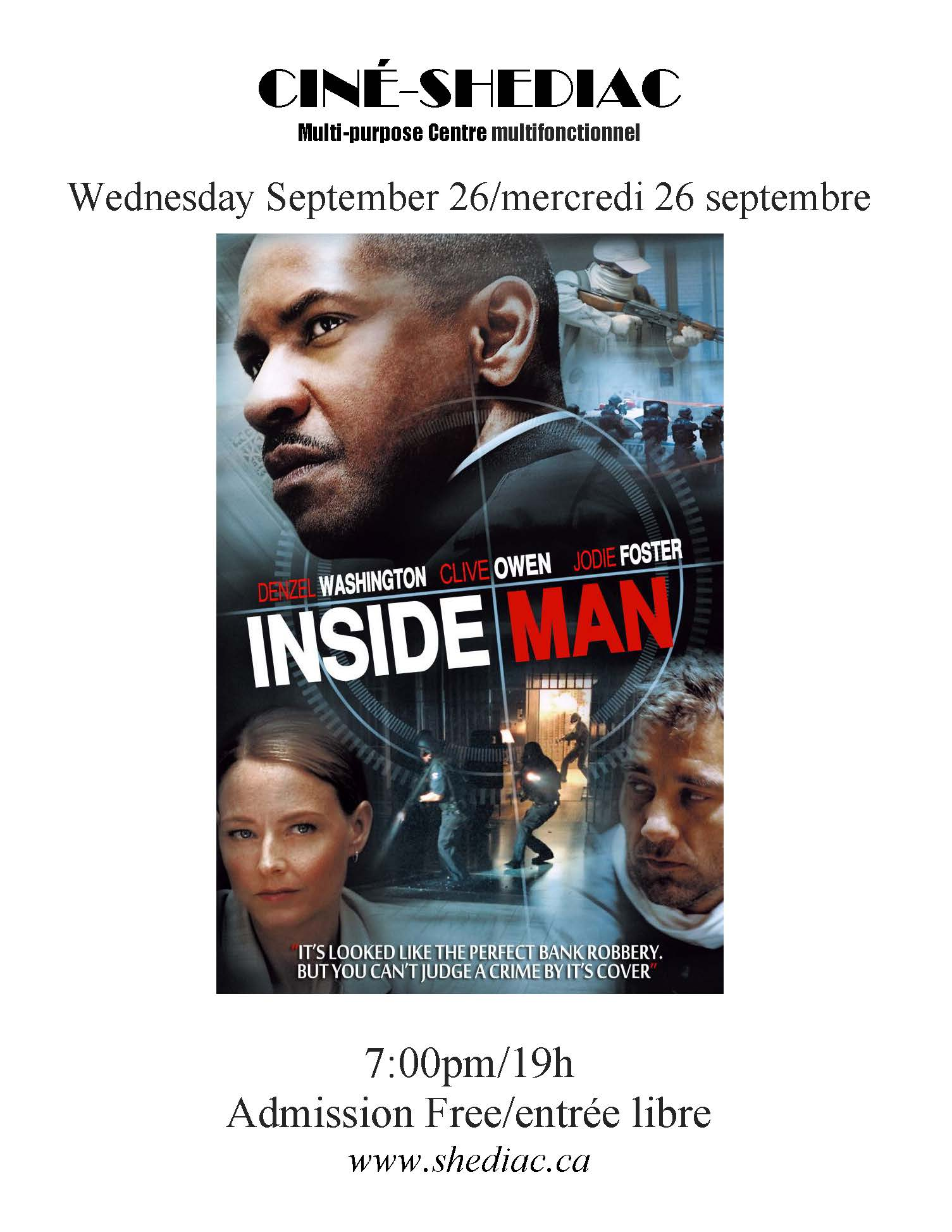 Inside Man 26 septembre