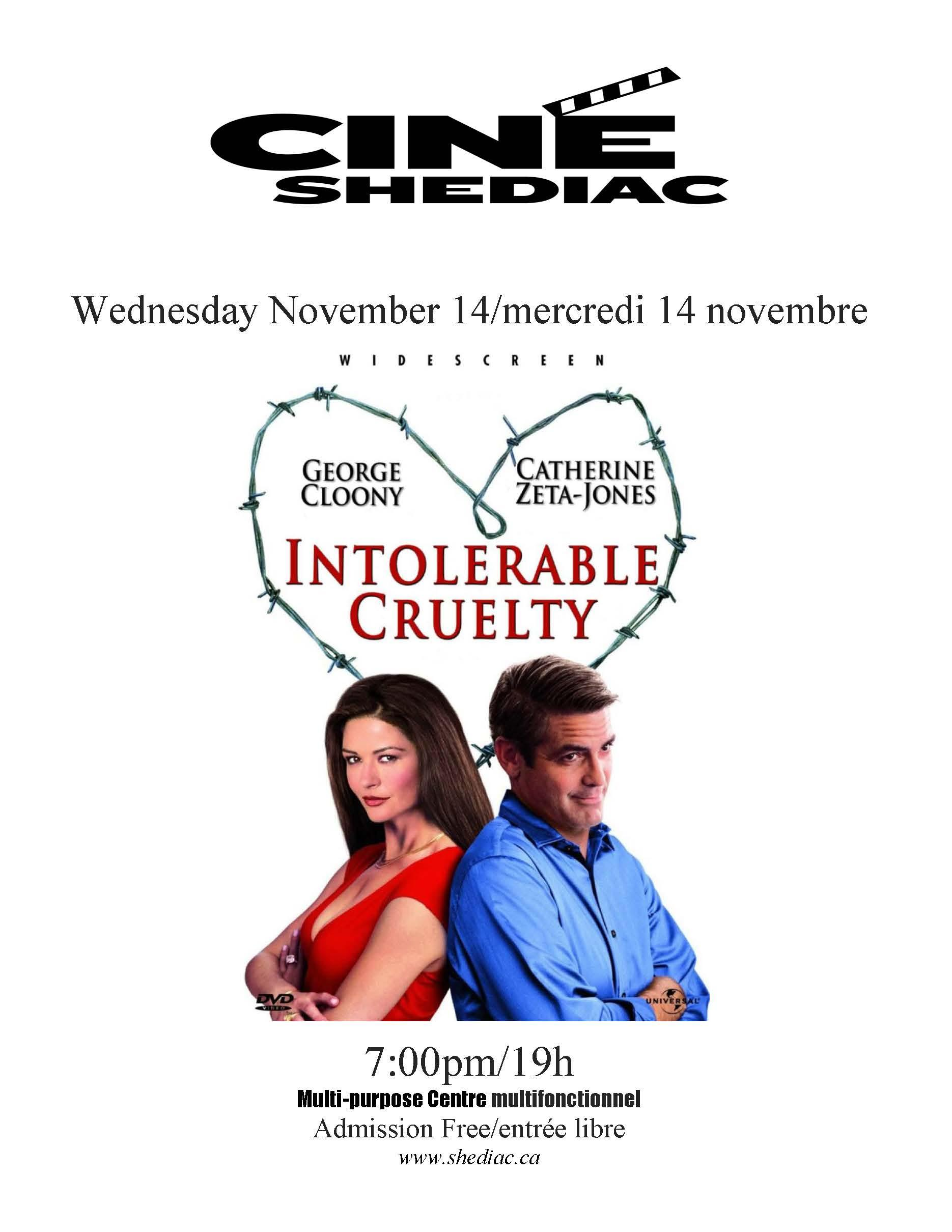 Intolerable Cruelty 14 novembre