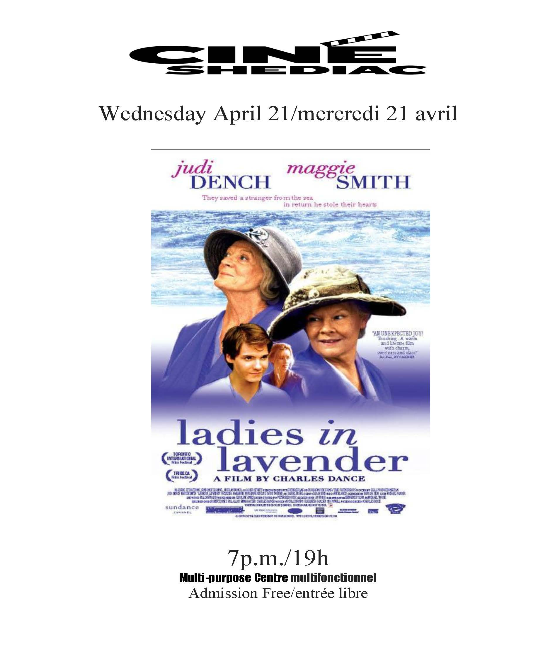 Ladies in Lavender 21 avril 2021