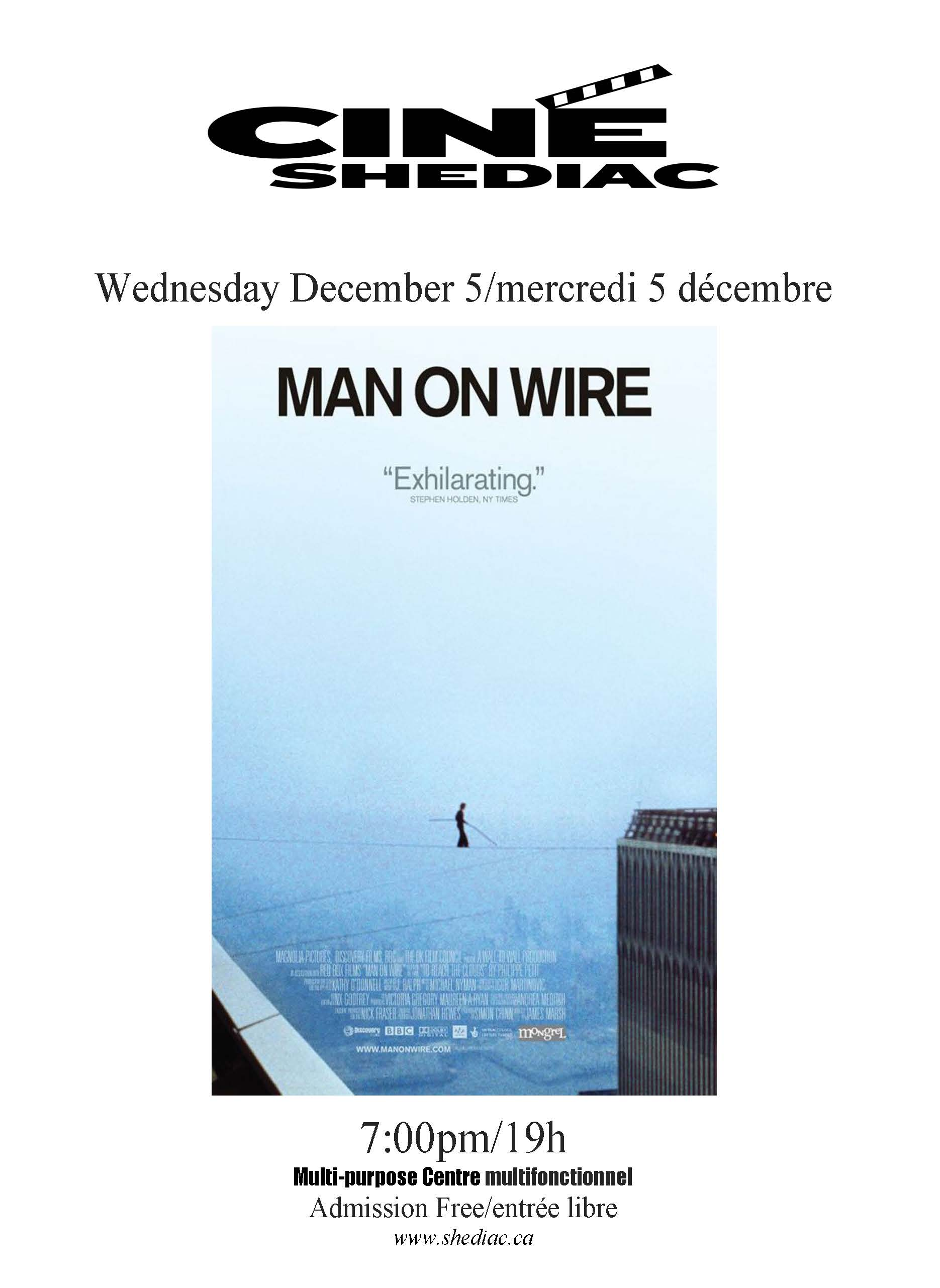 Man on wire 5 decembre