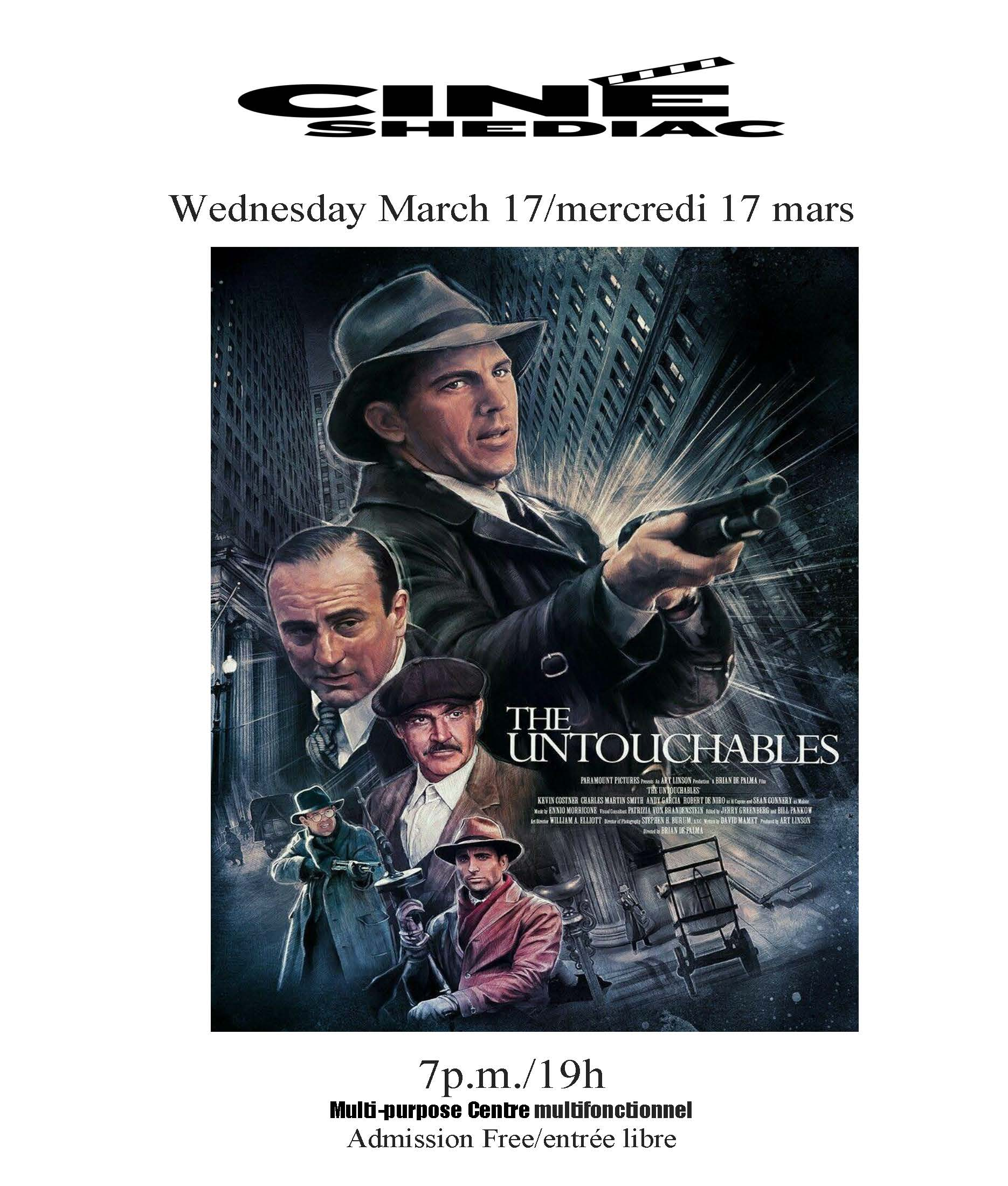 The Untouchables 17 mars