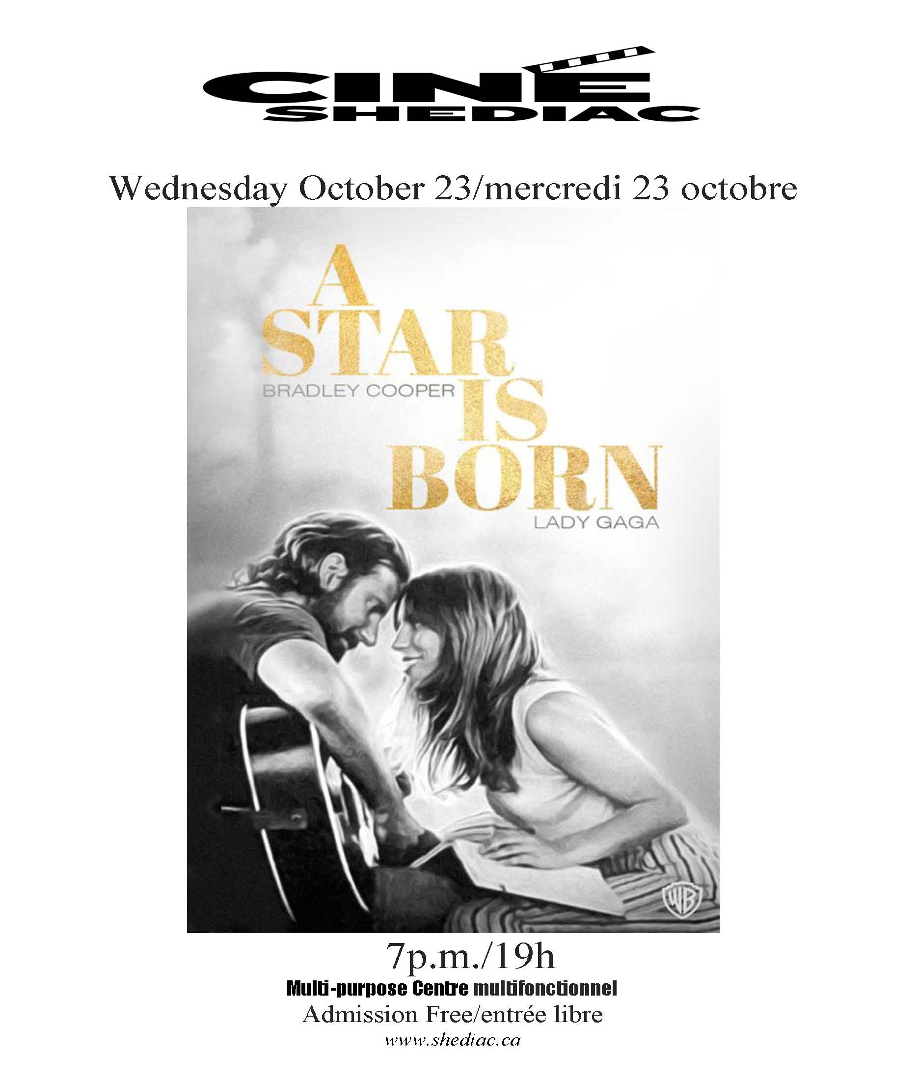 a star is born 23 octobre