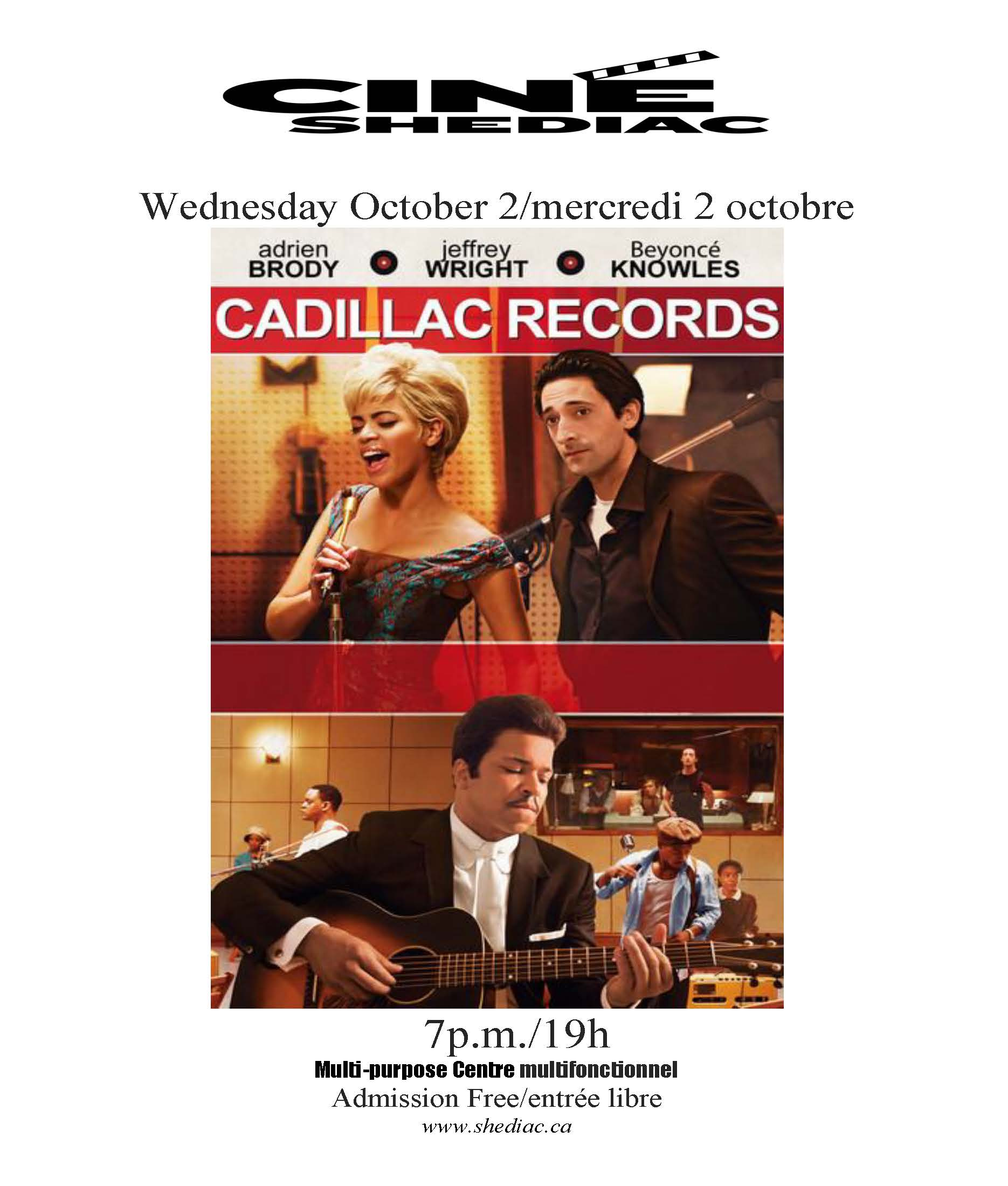 cadillac records 2 octobre