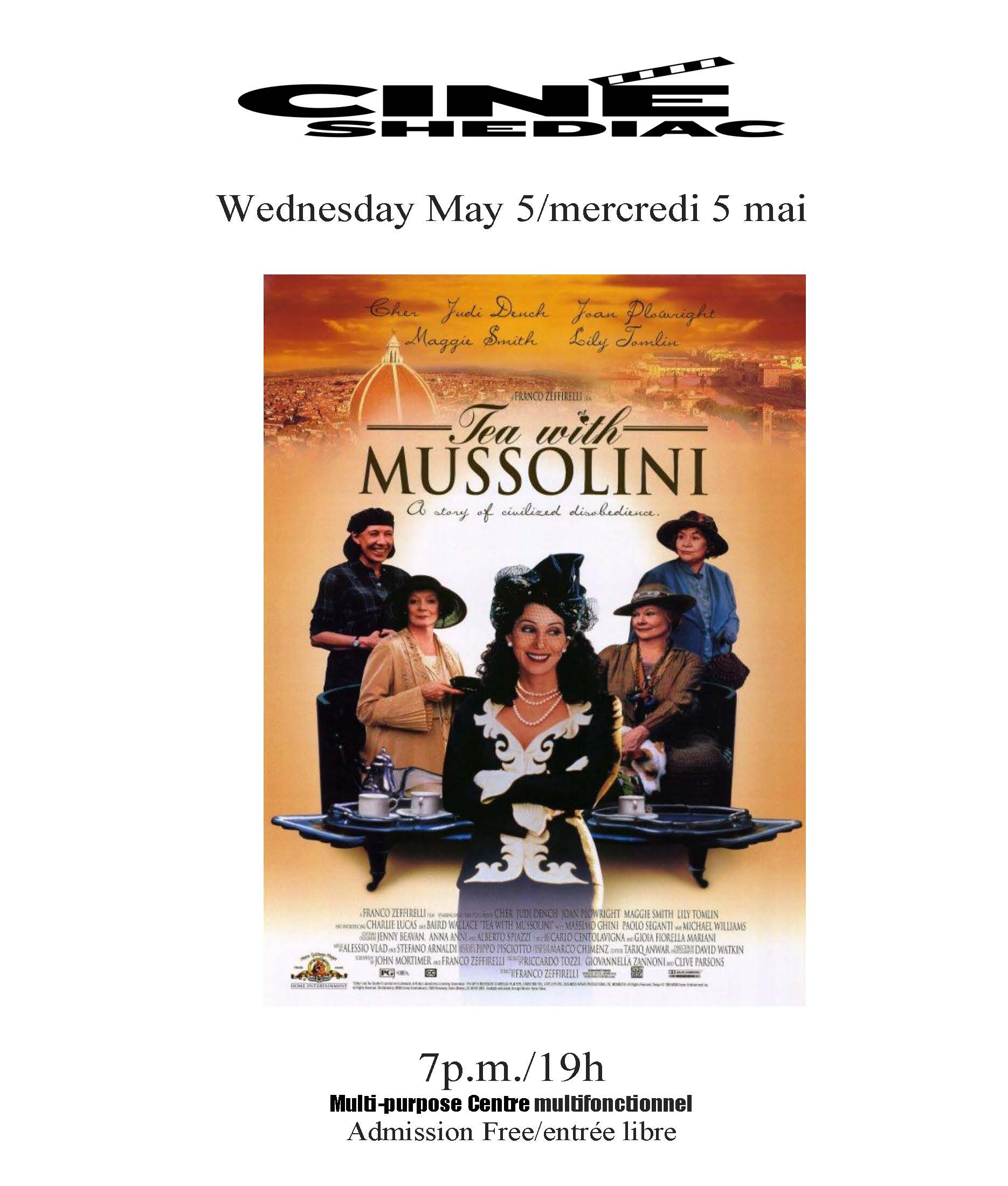 tea with Mussolini 5 mai