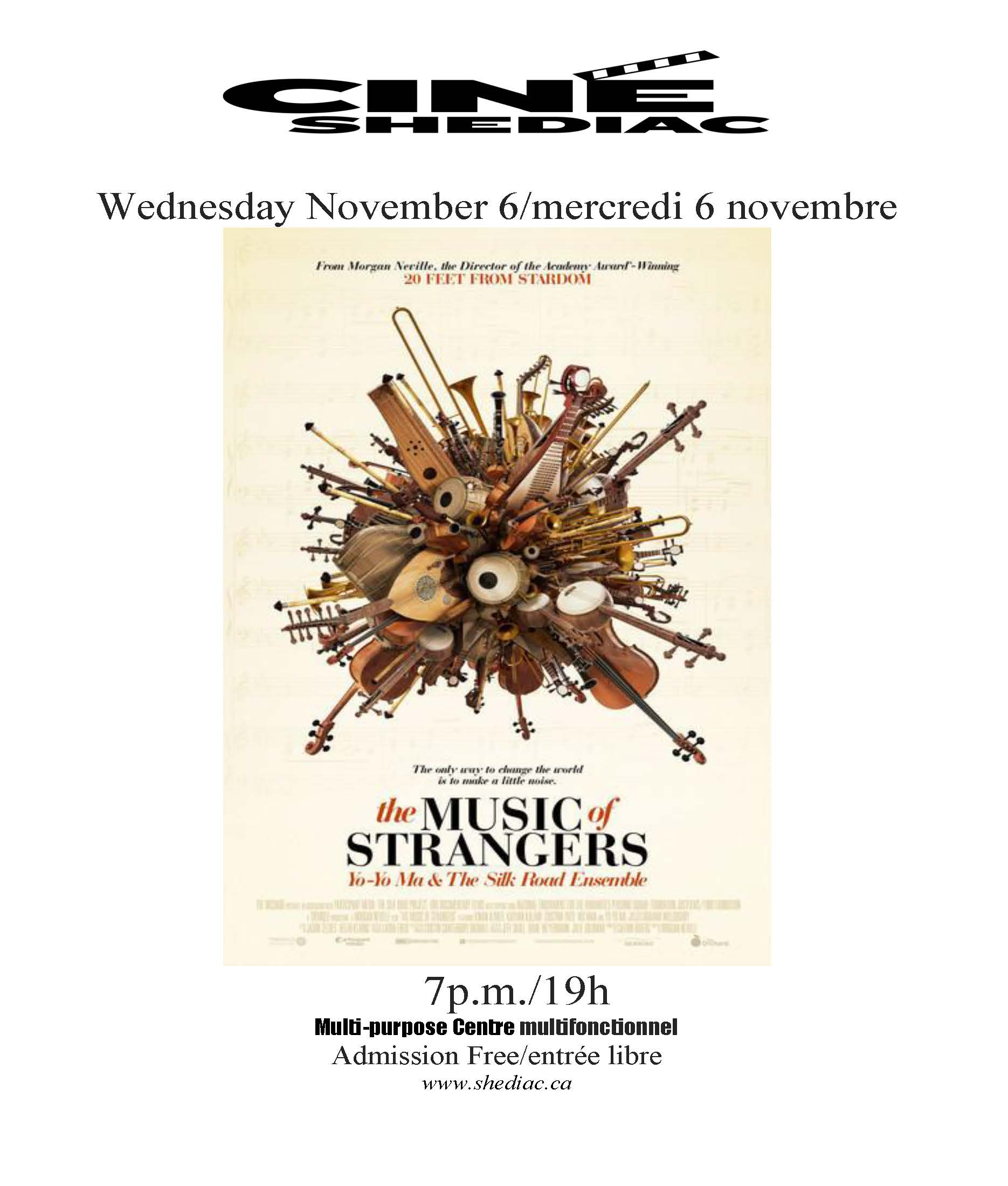 the music of strangers 6 novembre